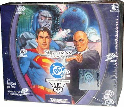 MARVEL / DC Vs System TCG - Superman Man of Steel Cards Booster Box #NEW