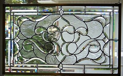 Stained Glass window hanging 30 1/4 X 18 1/2