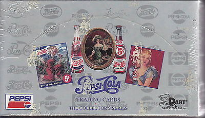 PEPSI - Series 1 Factory Sealed Collector Card Box (Dart Flipcards) #NEW