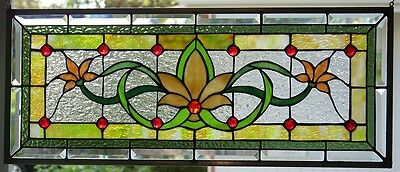 Stained Glass window hanging 30 14 X 12 1/4""