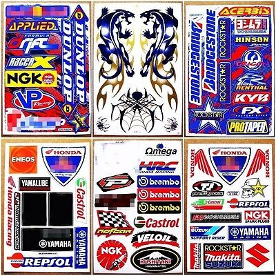 6 planches autocollant moto nascar dirt bike mx1 atv voiture decals sticker eur 9 59 picclick fr. Black Bedroom Furniture Sets. Home Design Ideas