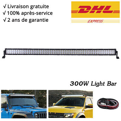 "300W Rampe Barre LED 54"" Combo 28500LM phare de travail SUV Offroad 12V 24V 4x4"