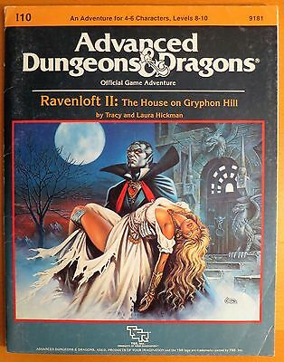 Ravenloft II The House On Gryphon Hill - I10 - TSR AD&D - Complete