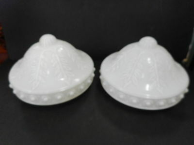 Vintage Matching Pair Of Ceiling Glass Light Shades
