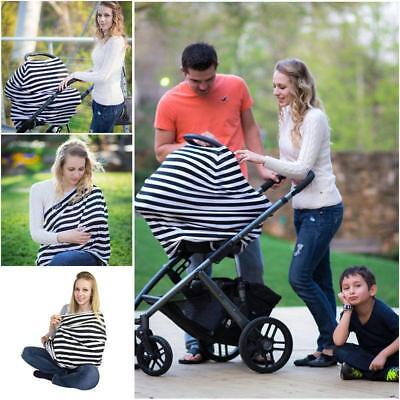 Multi-Use Breastfeeding Baby Car Seat Canopy Cover Nursing Scarf Cover Up Apron
