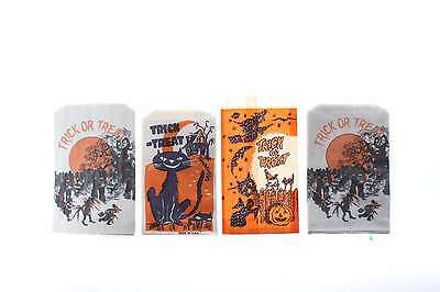 32 Old Vintage Halloween Candy Treat Bags With Cats Witches Haunted House