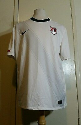 aea592d3c  90 NIKE WOMENS Size Large Dri-Fit White Red Blue USA Soccer Shirt ...