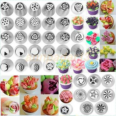 36 pcs Russian Tulip Icing Piping Nozzles Stainless Tips Cake Decorating Tool