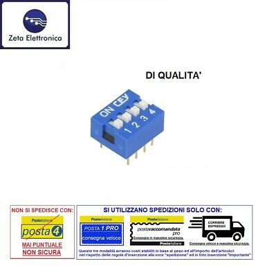 Dip Switch 4 Pin Way Contacts Switch Switch Diverter on off Dil