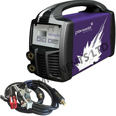 Parweld XTS162DV 110/240V 160A Stick Welder Dual Voltage Site TIG With MMA Leads