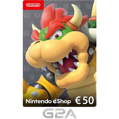 Nintendo eShop 50 Euro Card - 50€ Nintendo Switch / 3DS / WiiU Digital Key [EU]