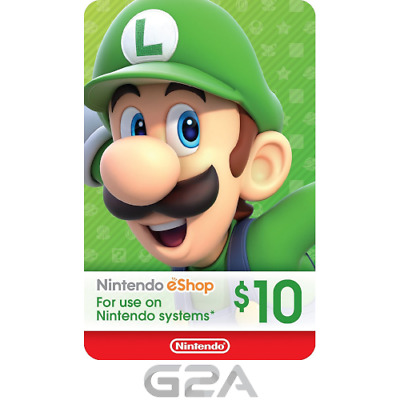 Nintendo eShop 10 USD Card - 10$ Nintendo Switch / 3DS / WiiU Digital Key [US]