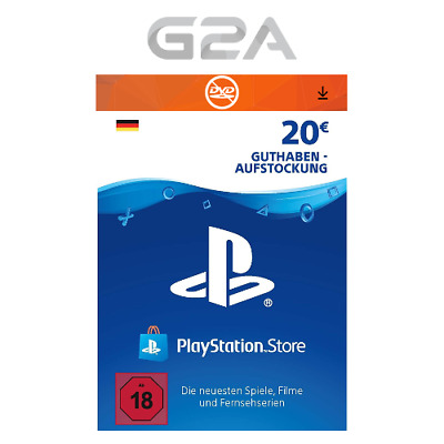 PSN 20 EURO DE - Playstation Network €20 EUR Card Guthaben Download Code PS4 PS3