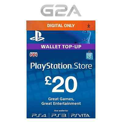 Playstation Network £20 Card - PSN 20 GBP UK Store Key / PS4 PS3 PSP - 20 Pounds