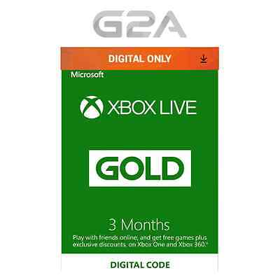 3 Month Xbox Live Gold Membership Code for Microsoft Xbox 360 / XBOX ONE Key EU