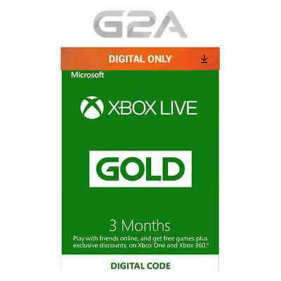 Microsoft Xbox LIVE 3 Month Gold Membership for Xbox 360 / XBOX ONE  Microsoft