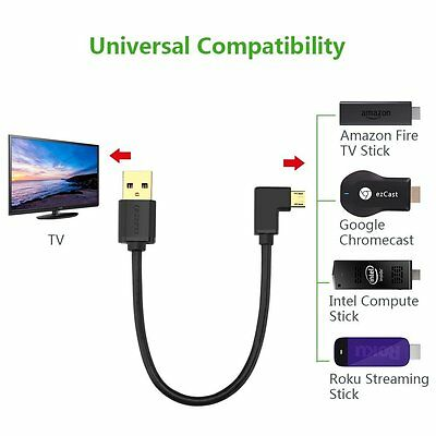 MINI USB POWER Cable For Chromecast Roku HDMI TV Adapter Streaming Media  Player