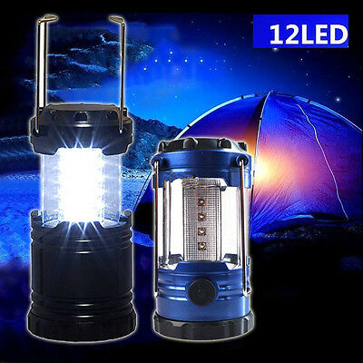 Outdoor 12 LED Portable Compass Camping Torch Lantern Night Light Tent Lamp UK