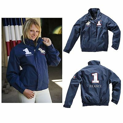 Equi-Theme Kids 'World' Bomber ?France? Model Navy