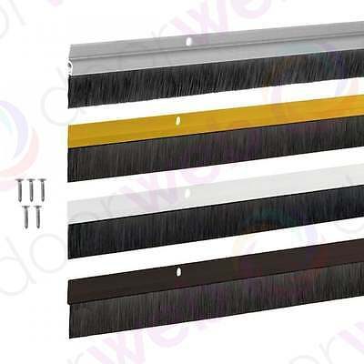 5 x DRAUGHT EXCLUDER DOOR BRUSH STRIP Sweep Seal Draft Aluminium Plastic 914mm
