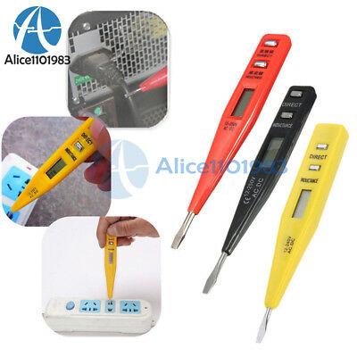 1× LCD Digital AC/DC Voltage Detector Continuity Tester Pen 12-240V