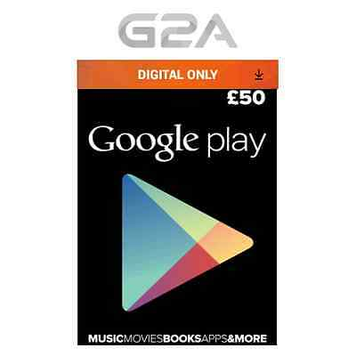 £50 Google PLAY Store GIFT CARD - 50 Pounds Google Play Android Key Code UK GBP