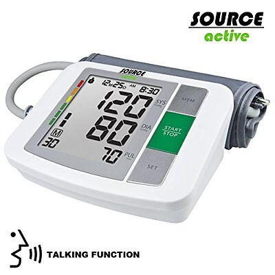 Source Active Digital Automatic Talking Voice Upper Arm Blood Pressure Monitor