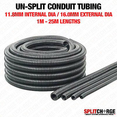 Non Split 11.8Mm/16.0Mm Black Spiral Conduit Tube Tubing Cable Tidy Trunking
