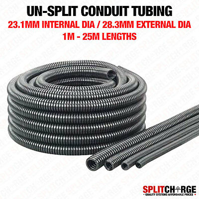 Non Split 23.1Mm/28.3Mm Black Spiral Conduit Tube Tubing Cable Tidy Trunking