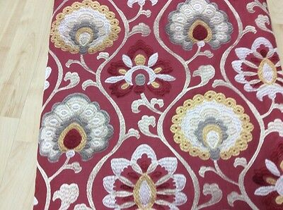 Jane Churchill Fabric Orissa Red/Gold
