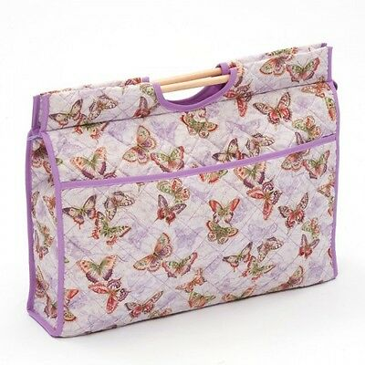 Butterflies - Lilac Classic Sewing Knitting Craft Bag