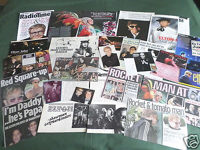 "Elton John - Pop/rock Music- ""clippings /cuttings Pack"""