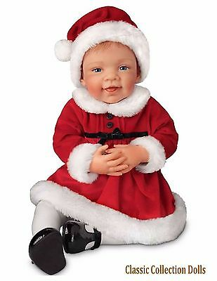 "Ashton Drake ""AVERY'S 1ST CHRISTMAS""  LIFELIKE 21"" BABY GIRL DOLL-NEW-IN STOCK !"