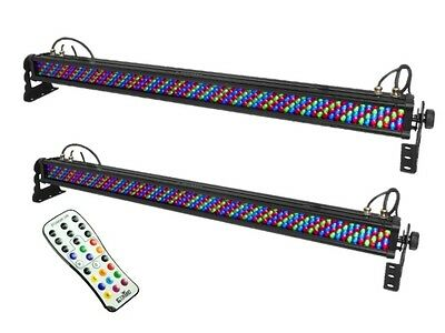 2 x Chauvet ColorRail IRC IP LED Light 1M Outdoor Uplighter Bar Wall Washer IP65