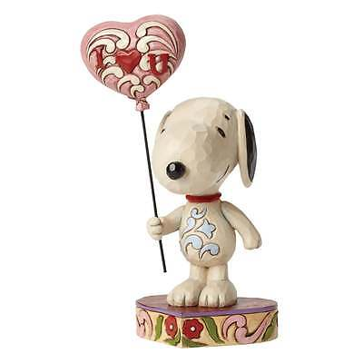 Jim Shore Peanuts I Heart You Snoopy With Balloon Figurine New 4042378