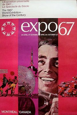 EXPO 67 MONTREAL poster Father VINTAGE RARE SUPERB 20x30 NOT A REPRO