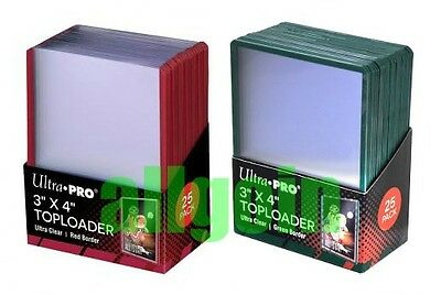 Ultra Pro 25 TOPLOADER ULTRA CLEAR COLOR BORDER PORTA CARTE BORDO COLORATO