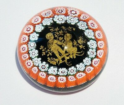 Imp Paperweight Zodiac Twins Millefiori orange