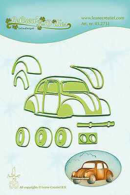 LeCrea' 3-D  Cutting and Embossing Die Stencil - CAR/BEETLE   Leane 45.2731