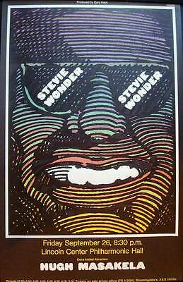STEVIE WONDER Vintage 1968 NEW YORK concert poster MILTON GLASER SUPERB Mint