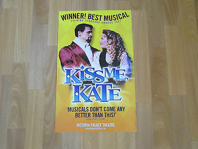 KISS me KATE Winner Best Musical 2001 VICTORIA Palace Theatre Original Poster