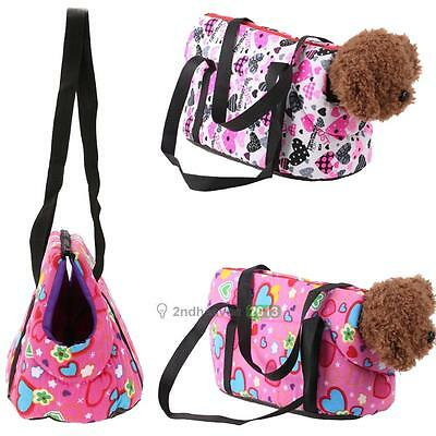 Portable Pet Dog Cat Travel Carrier Carry Canvas Bag Tote Puppy Outdoor Handbag