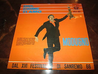 DOMENICO MODUGNO DIO COME TI AMO 1966 LP CURCI Rarissimo Copia Stupenda NM