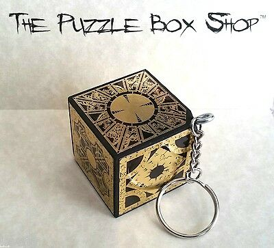 KEY CHAIN HELLRAISER PUZZLE BOX CUBE Foil Face KEYCHAIN PINHEAD NEW Handcrafted