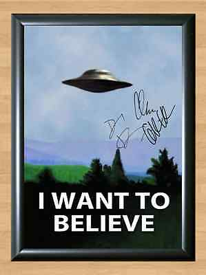 X-Files I Want To Believe Memorabilia Signed Autographed A4 Print Photo Poster