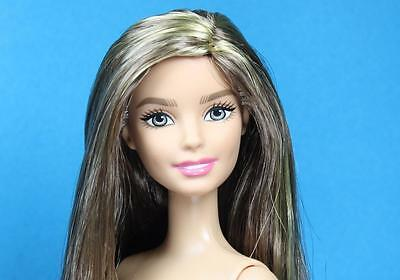 Barbie Glam Style Doll Golden Brunette Hair Partially Articulated Nude