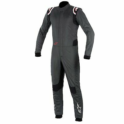 Alpinestars Supertech FIA Approved Race Suit Anthracite / Black / Red - Size 58