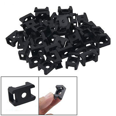 100Pcs New Black 4.5mm Width Cable Tie Base Saddle Type Mount Wire Holder