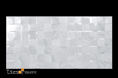 Scacchi Gloss Grey Ceramic Wall Tile 300x600 Checkered Feature
