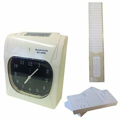 Clocking in machine time and attendance recorder with cards and rack